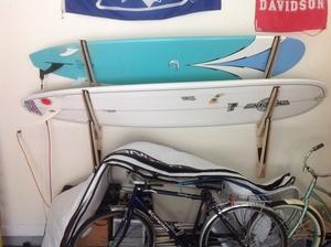 Talic Hangout Wood Storage Rack   3 Surfboards