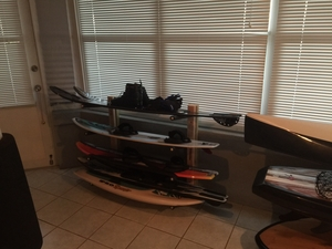 Wood Wakeboard Rack | 4 Board Wall Rack