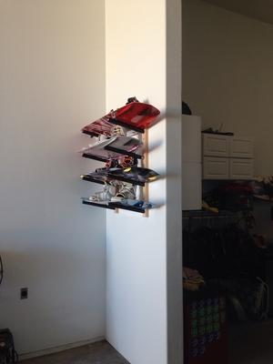 Wood Wakeboard Rack   4 Board Wall Rack
