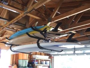 Expandable Ceiling Surfboard & SUP Rack   Gatekeepers