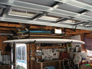 Expandable Ceiling Surfboard & SUP Rack | Gatekeepers