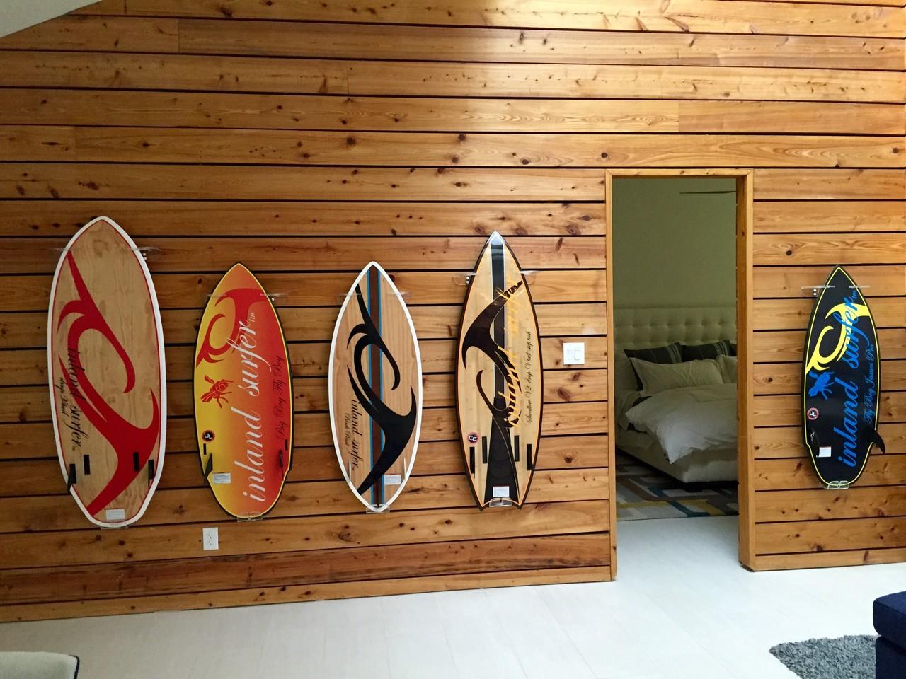 Display Your Rack ~ Vertical surfboard display rack clear acrylic wall mount