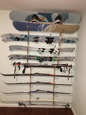 Premium Ski and Snowboard Wall Rack