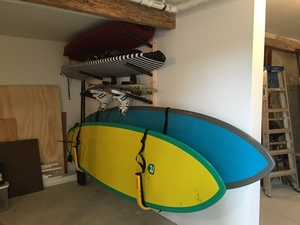 Surfboard Wall Rack | Triple Wood Surf Rack | Scorpion Basics