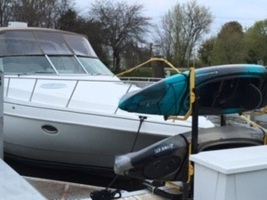 Marine Grade Galvanized 2-Kayak Rack | Suspenz Deluxe