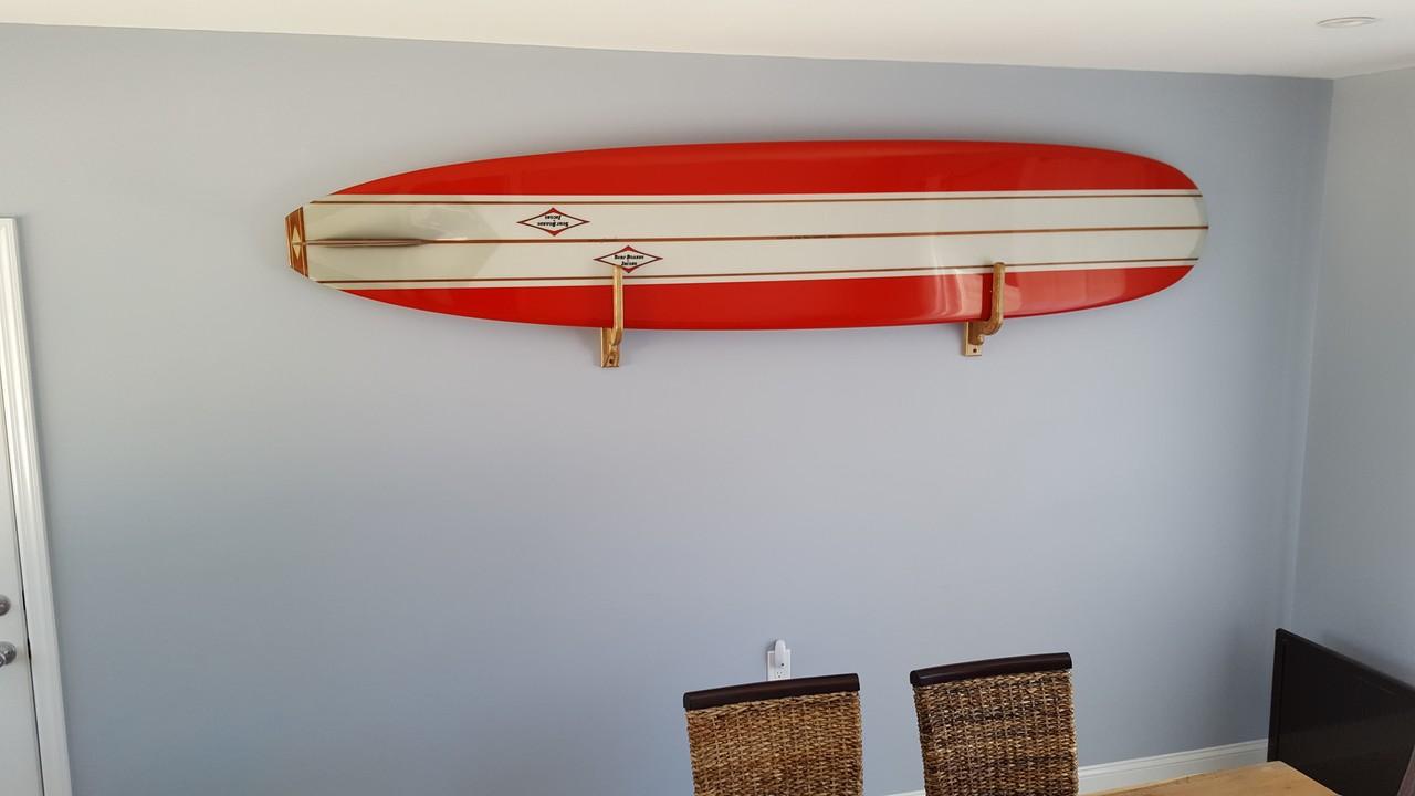 Compact wood surfboard wall rack storeyourboard compact wood surfboard wall rack amipublicfo Images