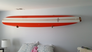 Compact Wood Surfboard Wall Rack