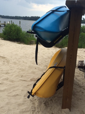 Outdoor Kayak Wall Rack | Marine Grade Construction