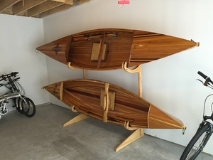 Talic Cayuga Freestanding Wooden Kayak Rack