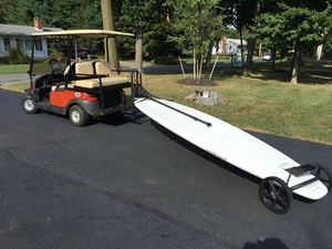 SUP Bike Trailer | Tow Paddleboard Behind Bike