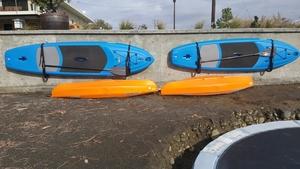 Outdoor SUP Wall Rack   Galvanized Saltwater Storage