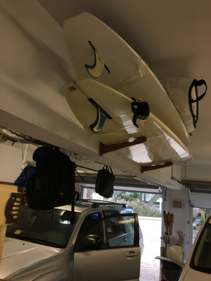 3 Wood Surfboard Rack | Surf Wall Storage