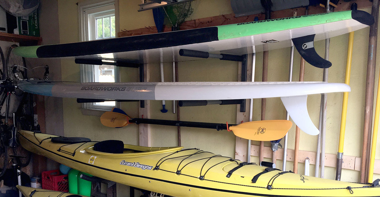 Sup Wall Rack 2 Paddleboards Storeyourboard Com