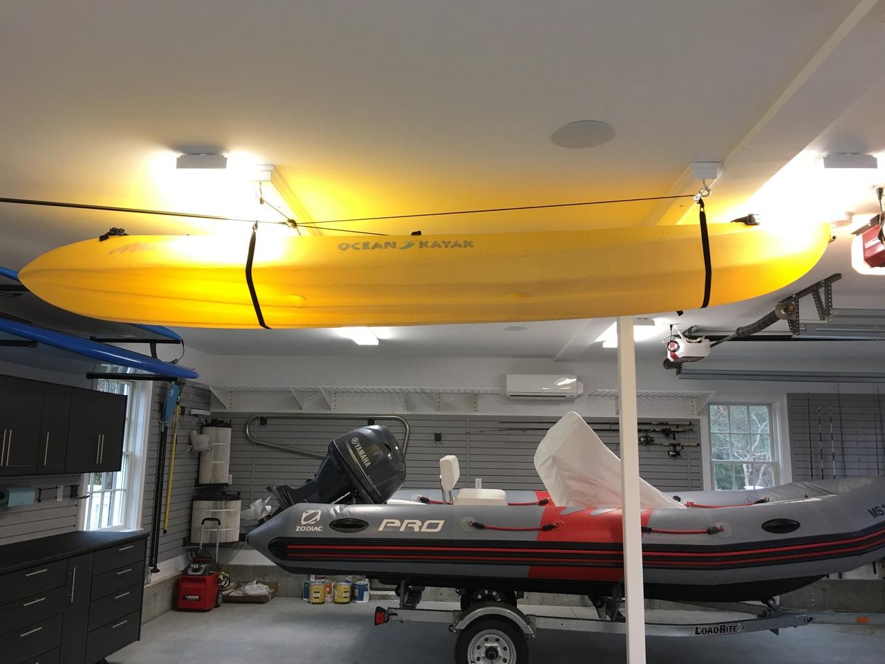 ... Premium Kayak Hoist | Overhead Kayak Lift Kit
