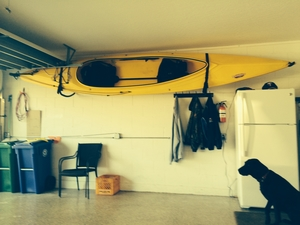 Kayak Vault | Home Wall Storage Rack