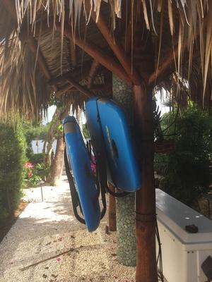 Outdoor Double SUP Wall Rack | Galvanized Saltwater Storage