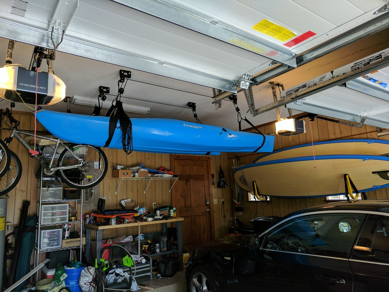 Kayak Ceiling Hoist Boat Storage Rack Hi Lift