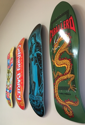 Skateboard Deck Display | Floating Mount