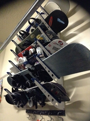 Snowboard Home Storage Rack