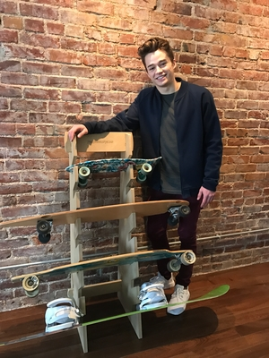 Skateboard Floor Display Rack | Freestanding