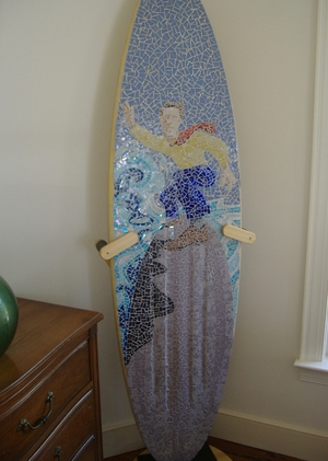 Surfboard Floor Display Stand