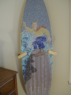 Surfboard Floor Display Stand