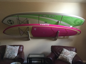 Talic Hangout Wood Double Surf Wall Rack