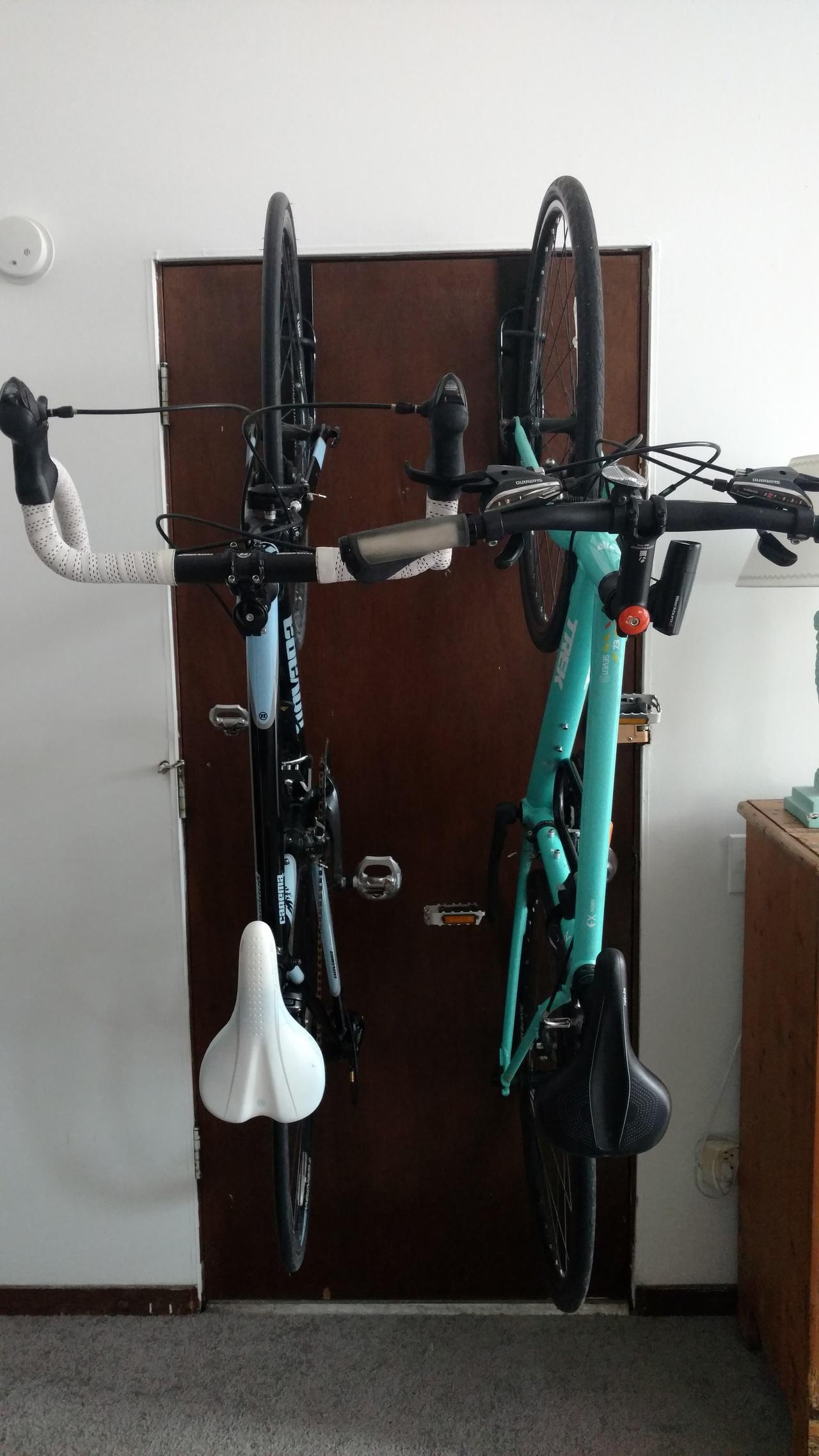 apartment door bike rack removable storeyourboard