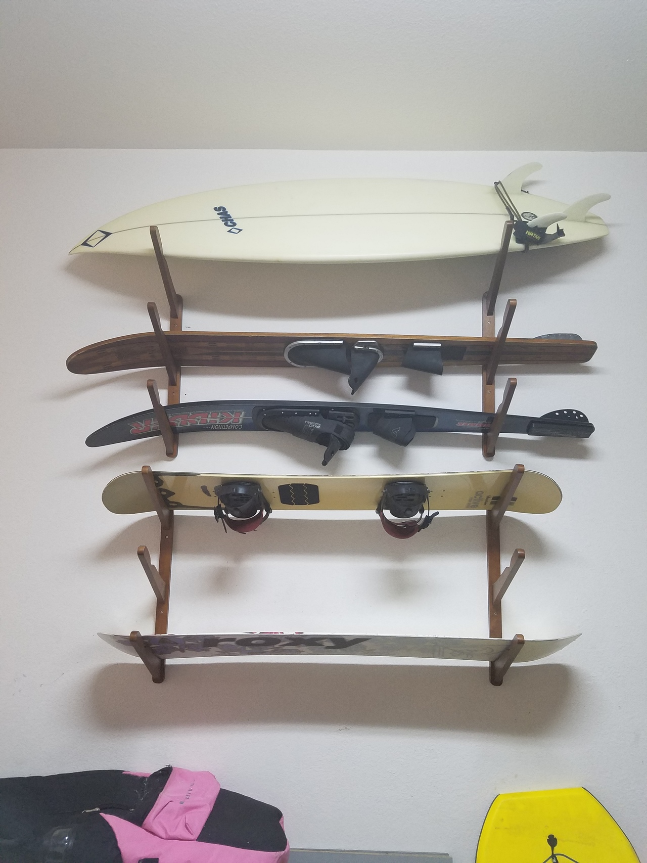 sparehand rack wall a p mount systems surfboard sup and save tier