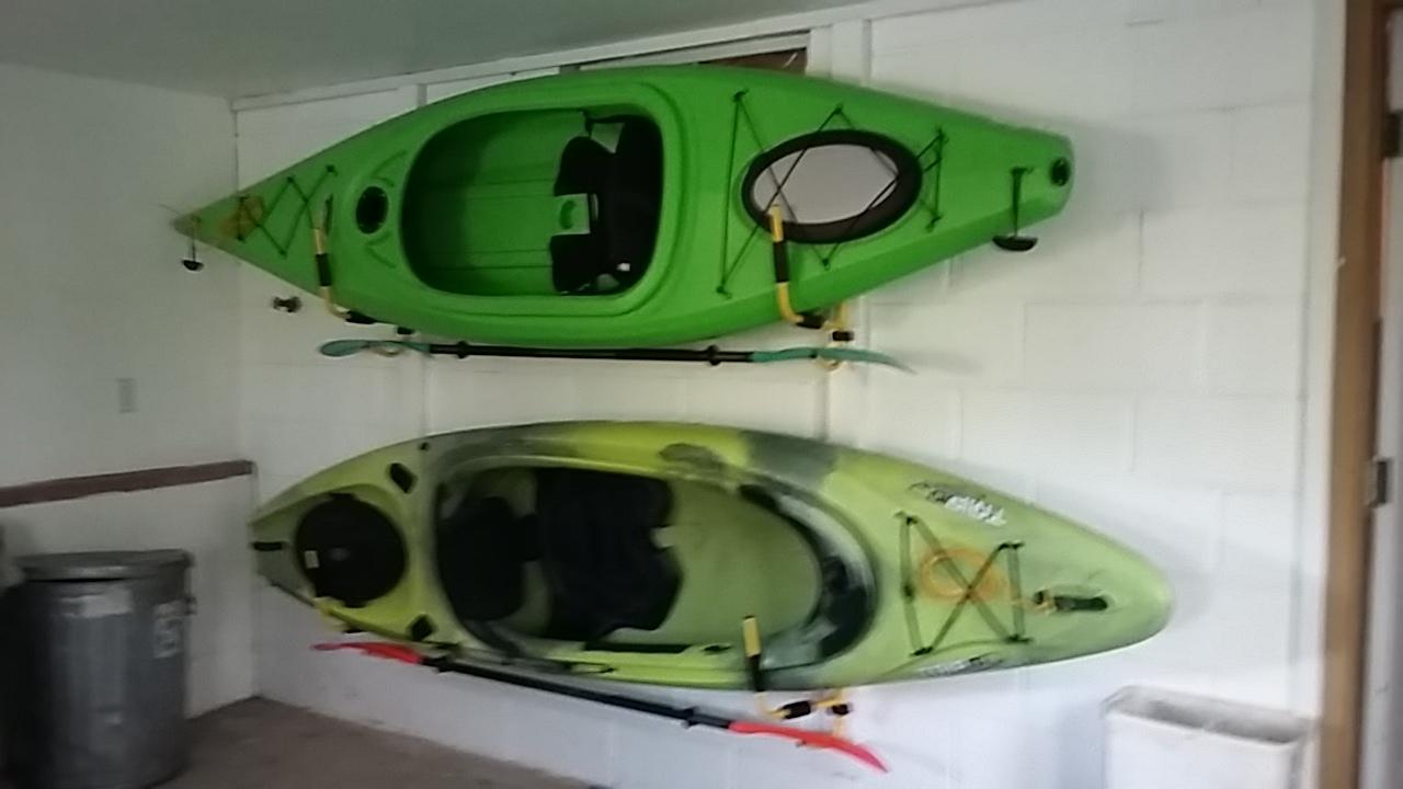 Kayak Wall Mount Foldable With Paddle Rack