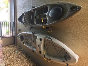 Kayak Wall Mount | Foldable with Paddle Rack
