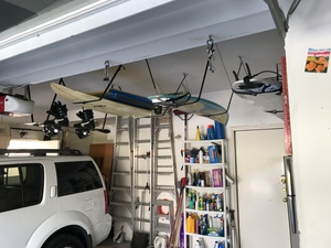 Surfboard Hi-Line | Adjustable Ceiling Surf Hanger