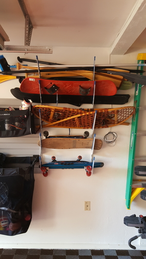 Adjustable Metal Surfboard Wall Rack | 4 Boards
