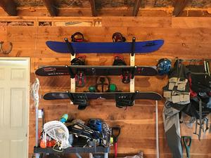 Snowboard Wall Rack   Triple Wood Snow Rack   Scorpion Basics