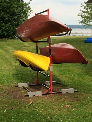 6-Boat Freestanding Kayak Storage Rack