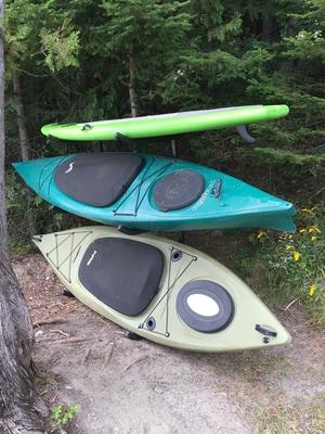 Indoor & Outdoor Freestanding Kayak Rack | Expandable