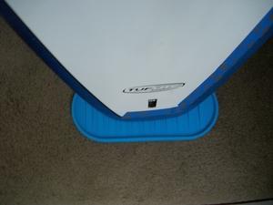 Portable Surfboard Stand   ShredPad Rubber Surf Mat