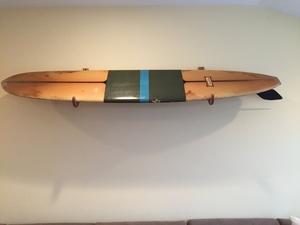 Wood Surfboard Wall Rack | Angled