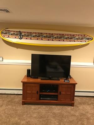 Clear Surfboard Display Rack