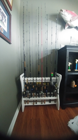 Customized 24 Fishing Rod Storage Rack | Weatherproof, Outdoor Storage
