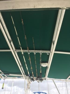 Fast Retrieve Fishing Pole Storage | Fits 6 Rods