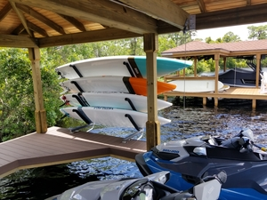 Stainless Steel SUP and Kayak Dock Rack | Mounted over Water
