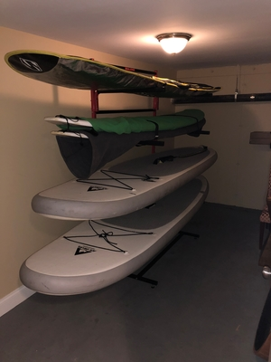Freestanding SUP Rack for 6 Paddleboards