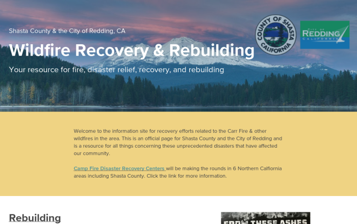 City Of Redding Carr Fire Map.Carr Fire Information