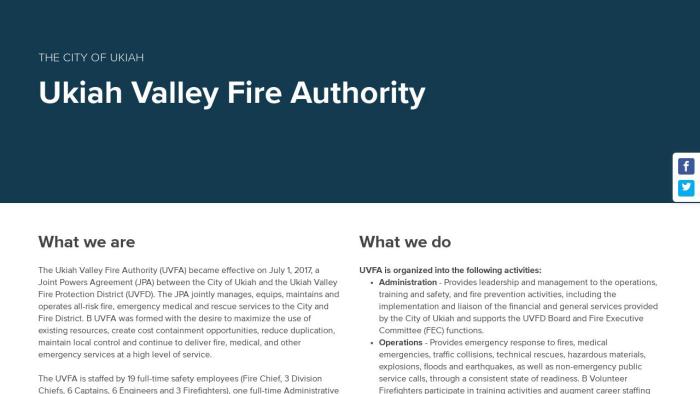 Ukiah Valley Fire Authority