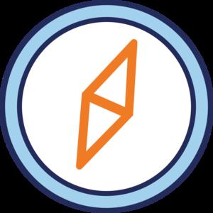 58716 logo compass print