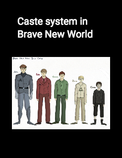 caste system brave new world essay When you were reading brave new world, you probably noticed that when the hatchery created embryos, they created them to fit into a specific class, or.