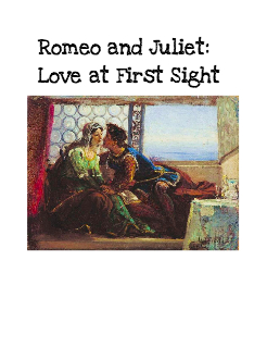 romeo and juliet love at first sight Write a scene where two characters of different backgrounds (think romeo and juliet) fall in love at first sight.