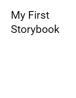 My First Storybook Storybook Cover