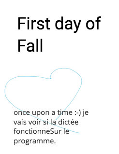First day of Fall Storybook Cover